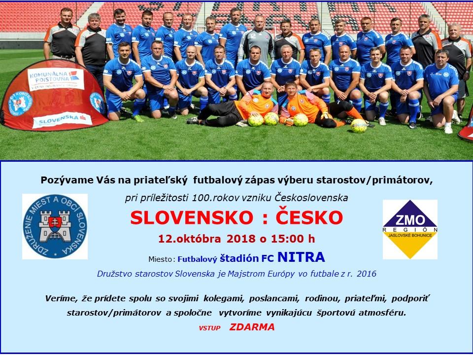 ca9a762cf AKTUALITY - Medzinárodný futbalový zápas Slovensko : Česko - ZMO ...